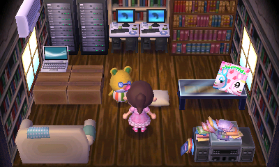 Interior of Graham's house in Animal Crossing: New Leaf