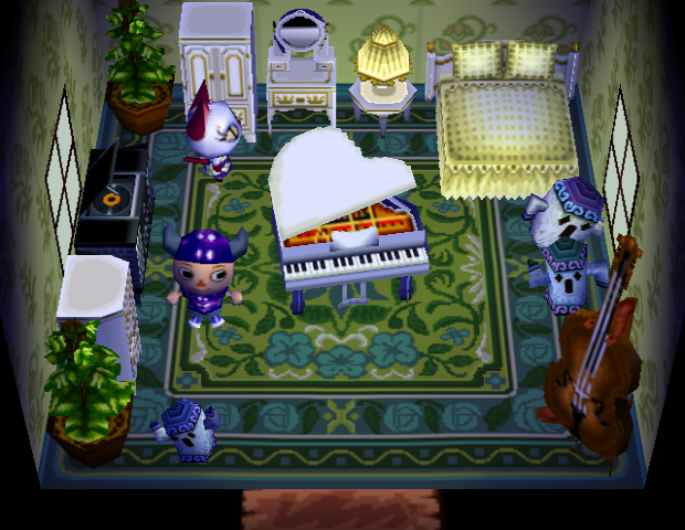 Interior of Olivia's house in Animal Crossing