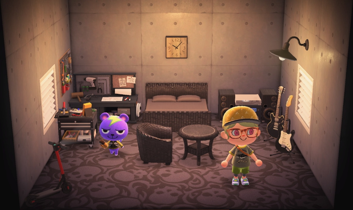 Interior of Static's house in Animal Crossing: New Horizons