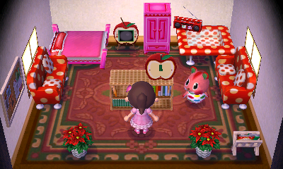 Interior of Apple's house in Animal Crossing: New Leaf
