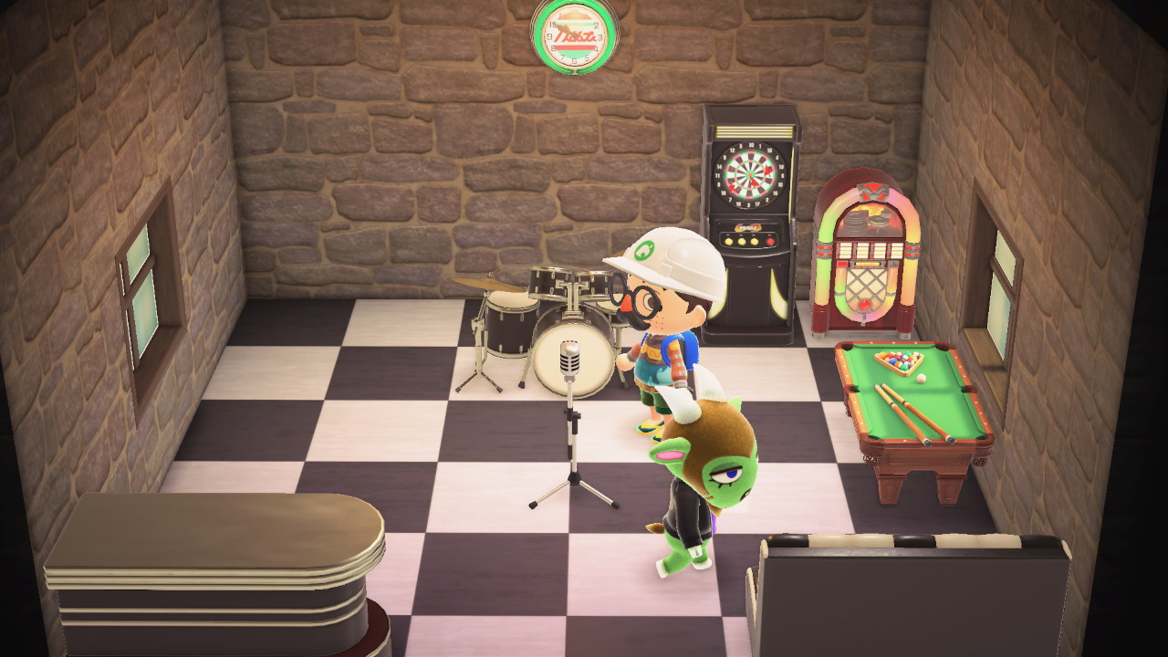 Interior of Gruff's house in Animal Crossing: New Horizons
