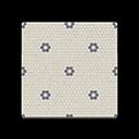 Floral Mosaic-Tile Flooring