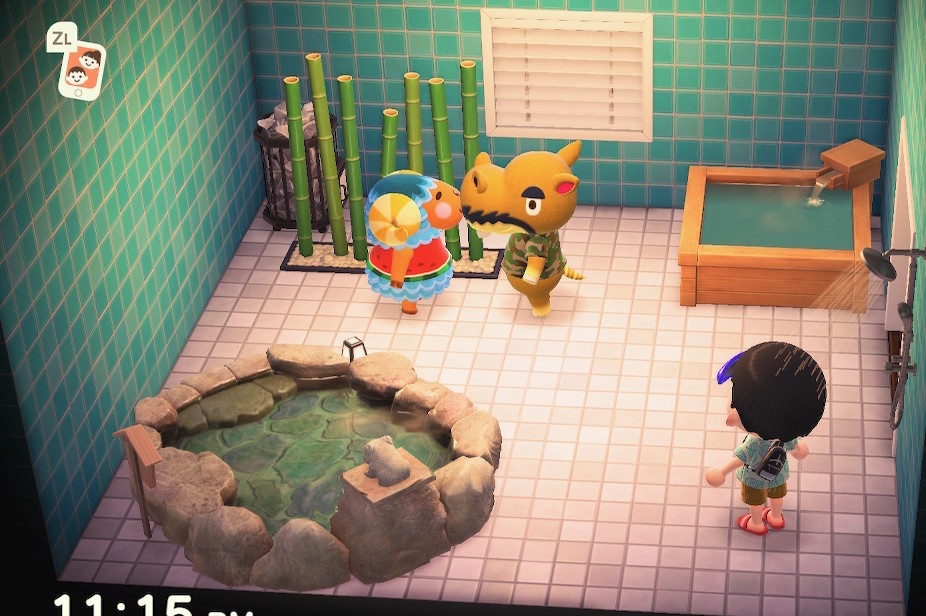 Interior of Harry's house in Animal Crossing: New Horizons