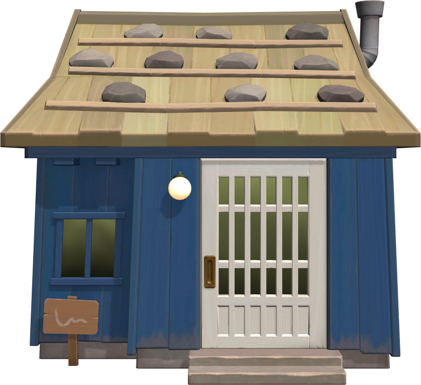 Exterior of Hornsby's house in Animal Crossing: New Horizons