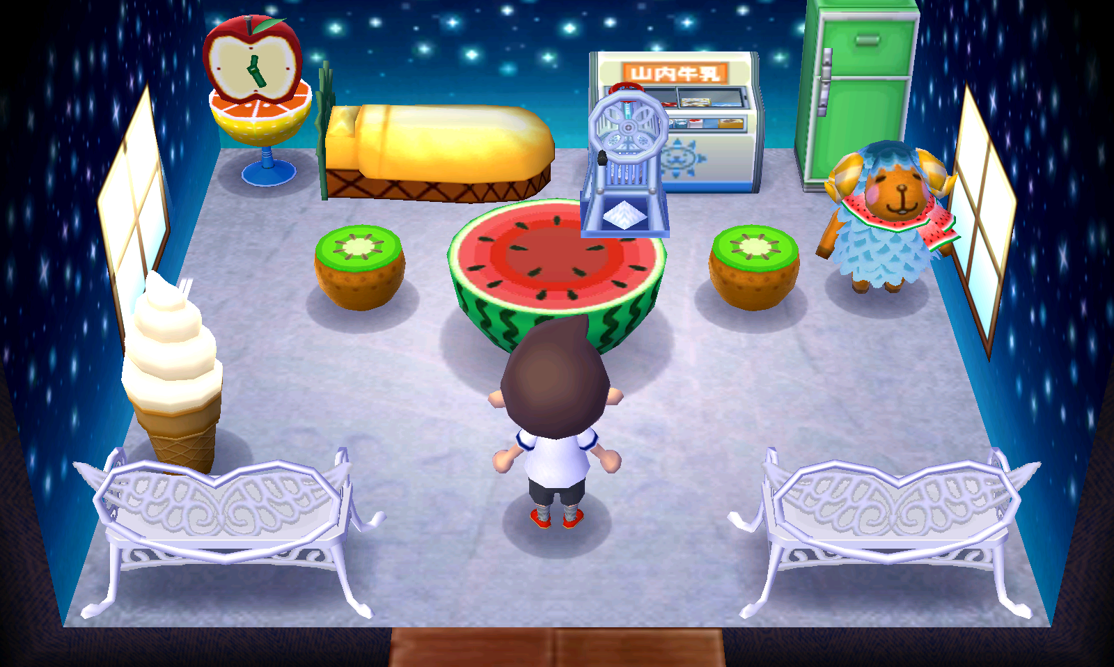 Interior of Wendy's house in Animal Crossing: New Leaf