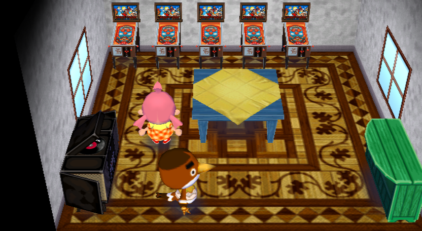 Interior of Anchovy's house in Animal Crossing: City Folk