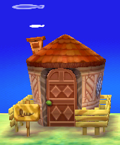 Exterior of Anchovy's house in Animal Crossing: New Leaf