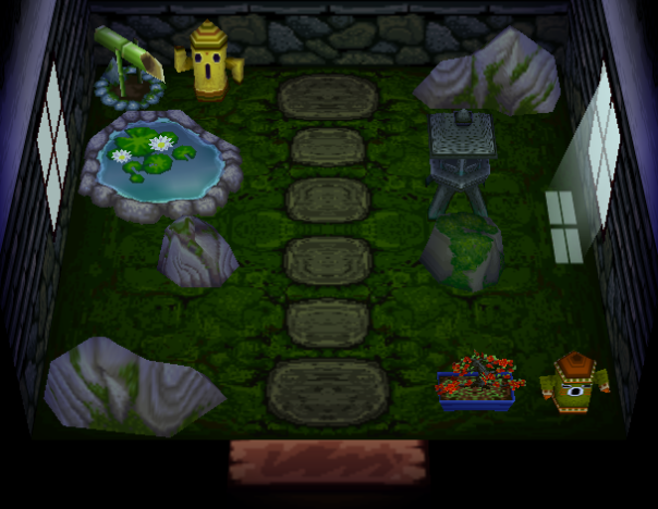 Interior of Snake's house in Animal Crossing