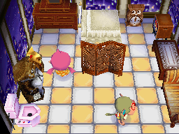 Interior of Elise's house in Animal Crossing: Wild World