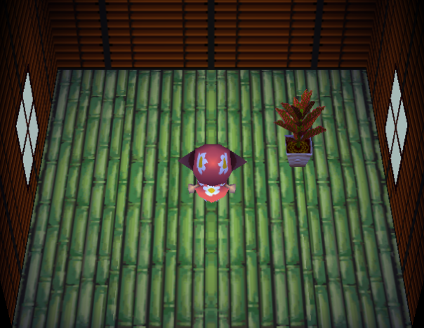 Interior of Flash's house in Animal Crossing