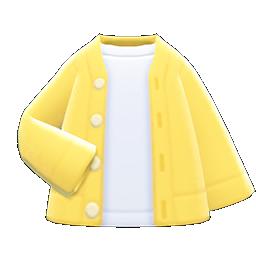 Cardigan-Shirt Combo