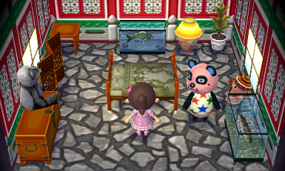 Interior of Chow's house in Animal Crossing: New Leaf