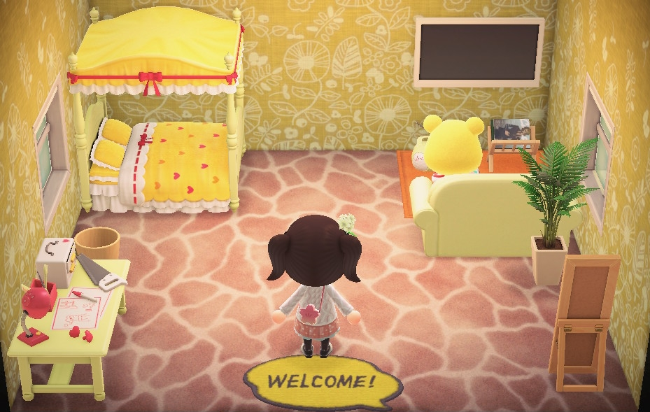 Interior of Tammy's house in Animal Crossing: New Horizons