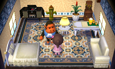 Interior of Cesar's house in Animal Crossing: New Leaf