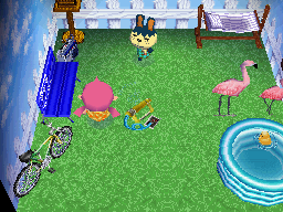 Interior of Pippy's house in Animal Crossing: Wild World