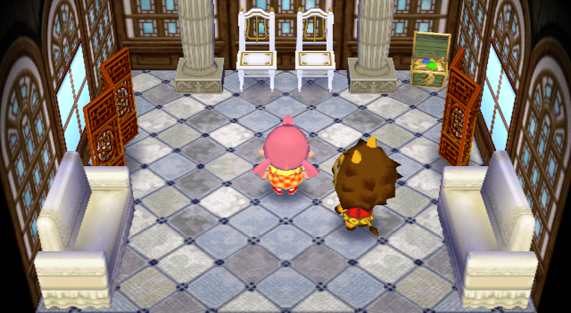 Interior of Elvis's house in Animal Crossing: City Folk