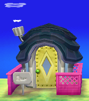 Exterior of Olivia's house in Animal Crossing: New Leaf