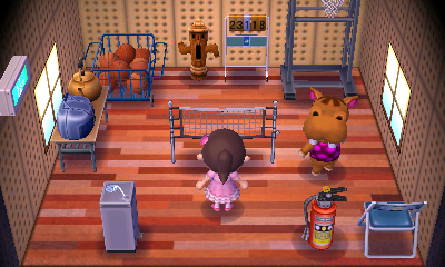Interior of Bubbles's house in Animal Crossing: New Leaf