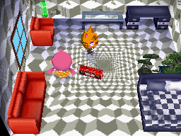 Interior of Tabby's house in Animal Crossing: Wild World