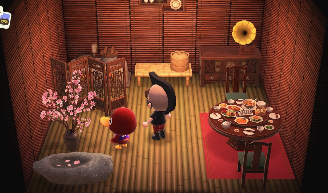 Interior of Bill's house in Animal Crossing: New Horizons