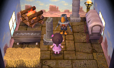 Interior of Avery's house in Animal Crossing: New Leaf