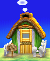 Exterior of Clyde's house in Animal Crossing: New Leaf