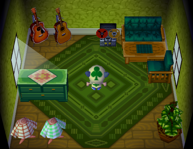 Interior of Biff's house in Animal Crossing