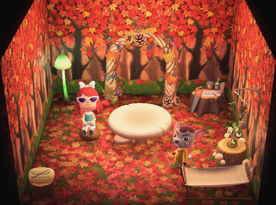 Interior of Deirdre's house in Animal Crossing: New Horizons