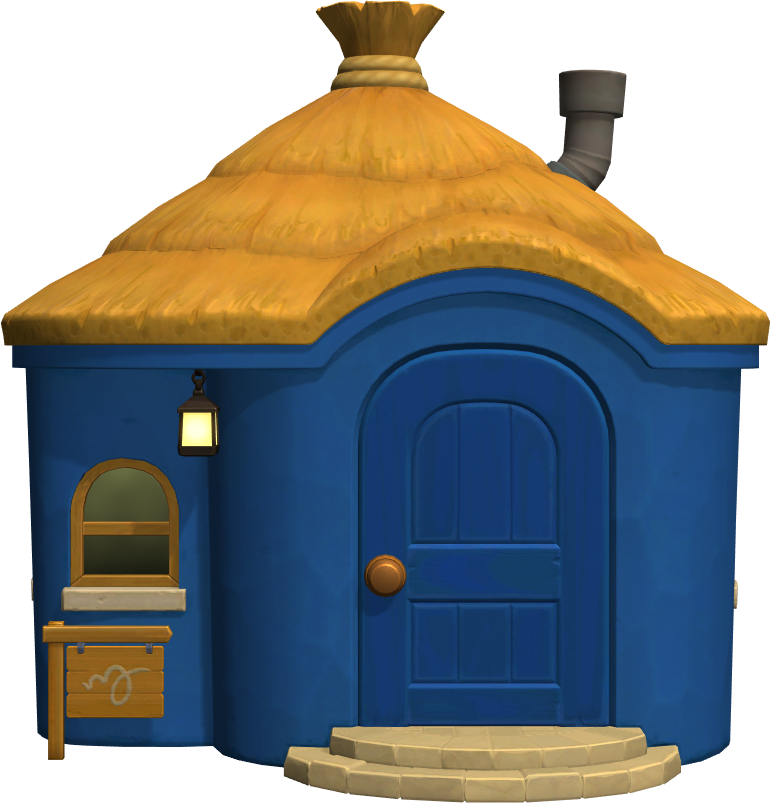 Exterior of Moe's house in Animal Crossing: New Horizons