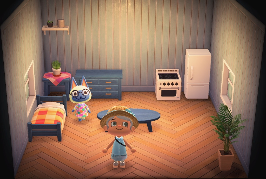 Interior of Mitzi's house in Animal Crossing: New Horizons