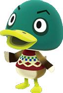 Drake, an Animal Crossing villager.