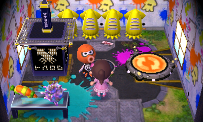 Interior of Inkwell's house in Animal Crossing: New Leaf