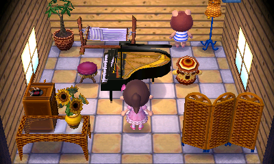 Interior of Peggy's house in Animal Crossing: New Leaf