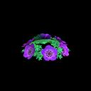 Purple Windflower Crown
