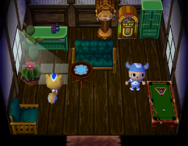 Interior of Ricky's house in Animal Crossing