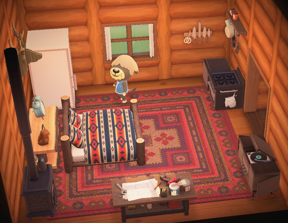 Interior of Shep's house in Animal Crossing: New Horizons
