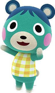 Bluebear, an Animal Crossing villager.