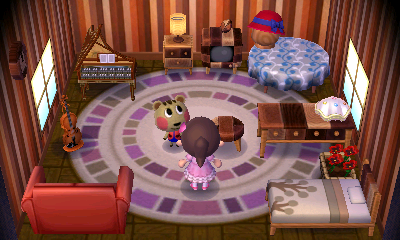 Interior of Cally's house in Animal Crossing: New Leaf