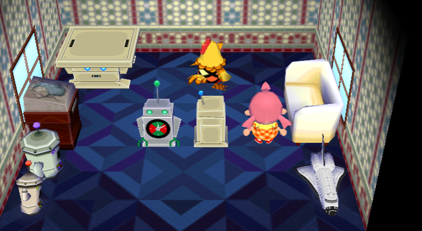 Interior of Egbert's house in Animal Crossing: City Folk