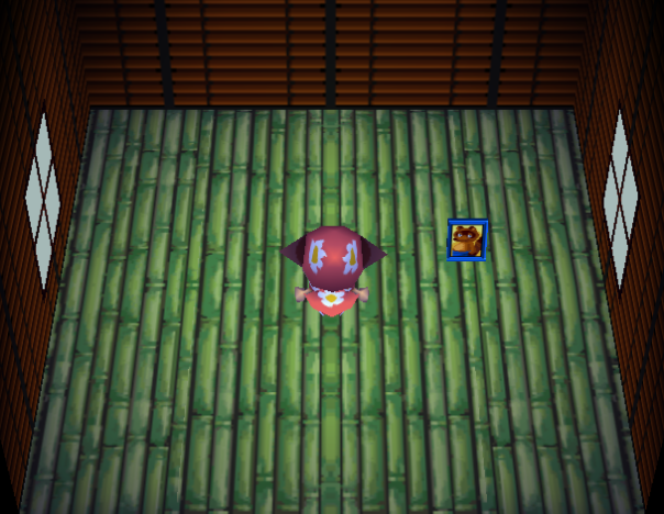 Interior of O'Hare's house in Animal Crossing
