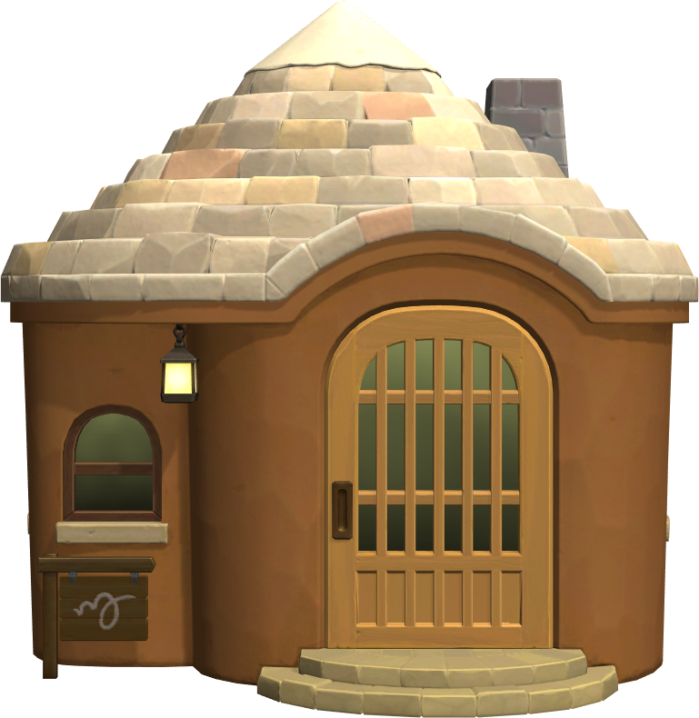 Exterior of Bangle's house in Animal Crossing: New Horizons