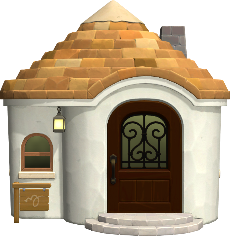Exterior of Gabi's house in Animal Crossing: New Horizons