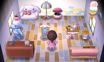 Interior of Chai's house in Animal Crossing: New Leaf