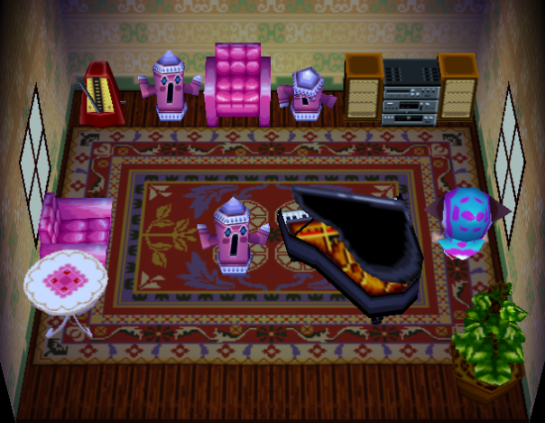 Interior of Huggy's house in Animal Crossing