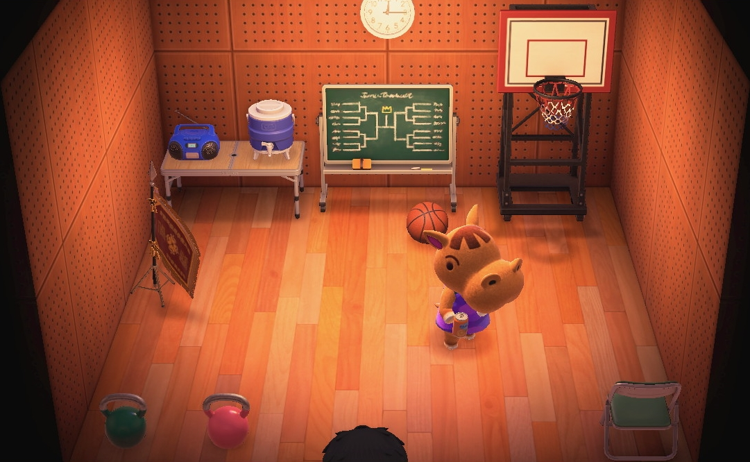 Interior of Bubbles's house in Animal Crossing: New Horizons