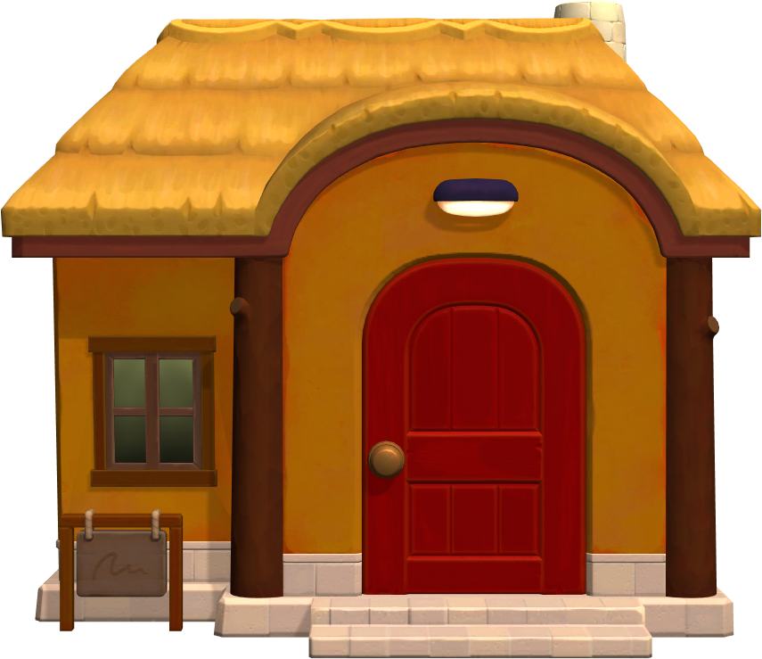 Exterior of Caroline's house in Animal Crossing: New Horizons