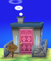 Exterior of Alli's house in Animal Crossing: New Leaf