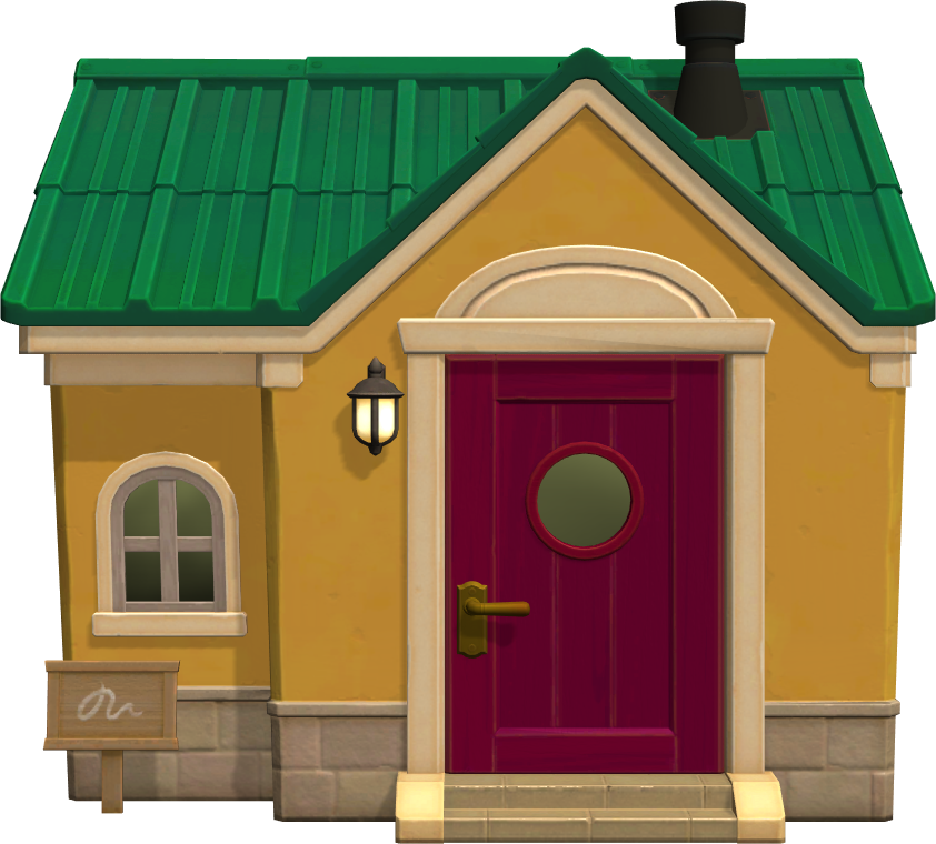 Exterior of Stitches's house in Animal Crossing: New Horizons