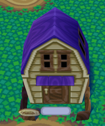 Exterior of Anchovy's house in Animal Crossing