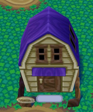 Exterior of Vesta's house in Animal Crossing